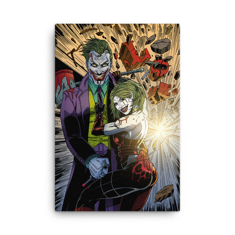 Joker/Harley Canvas