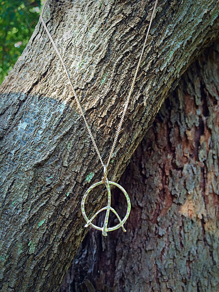 Large Peace Pendant