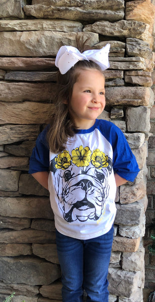 Youth Flower Crown Bulldog