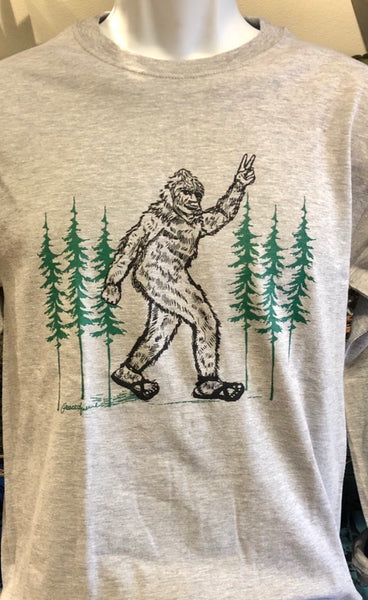 Bigfoot Giving a Peace Sign - Short Sleeve