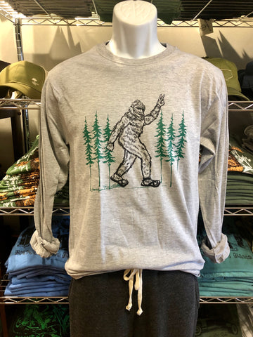 Bigfoot Giving a Peace Sign - Long Sleeve