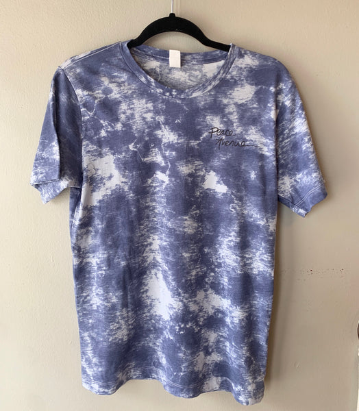 Tree with Roots - Blue Tie Dye