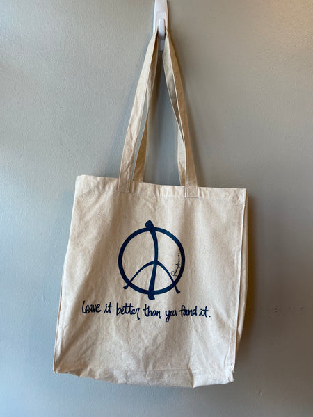 Cotton Market Tote - Leave it better than you found it.