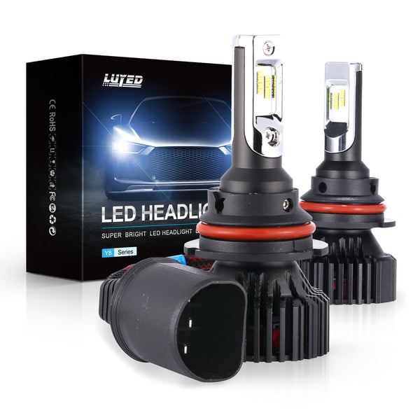 9007(HB5) LED Headlight Bulbs Conversion Kit Y8 Series ZES Chips Extremely Bright 6500K Xenon White - 8000 Lumens/Set