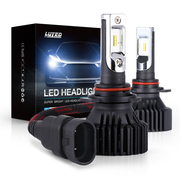 9012(HIR2) LED Headlight Bulbs Conversion Kit Y8 Series ZES Chips Extremely Bright 6500K Xenon White - 8000 Lumens/Set