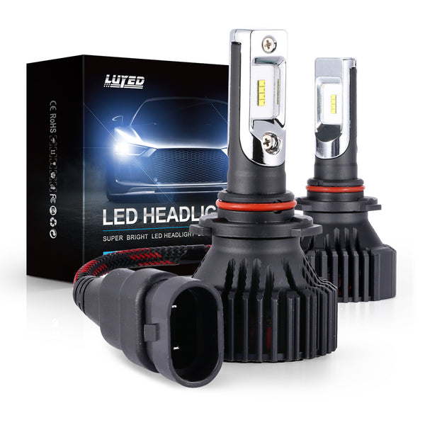 H10(9140/9145) LED Headlight Bulbs Conversion Kit Y8 Series ZES Chips Extremely Bright 6500K Xenon White - 8000 Lumens/Set