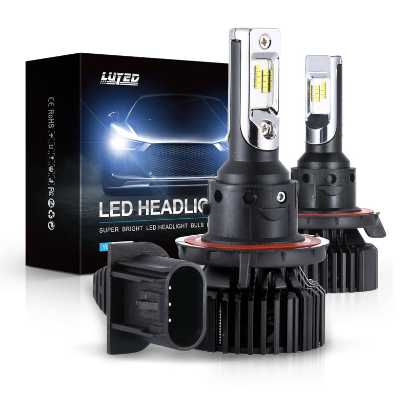 9008(H13) LED Headlight Bulbs Conversion Kit Y8 Series ZES Chips Extremely Bright 6500K Xenon White - 8000 Lumens/Set