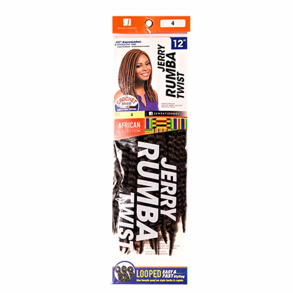 SENSATIONNEL JERRY RUMBA TWIST 12″ (CROCHET BRAIDS)