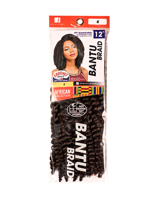 SENSATIONNEL BANTU BRAID 12″ (CROCHET BRAIDS)