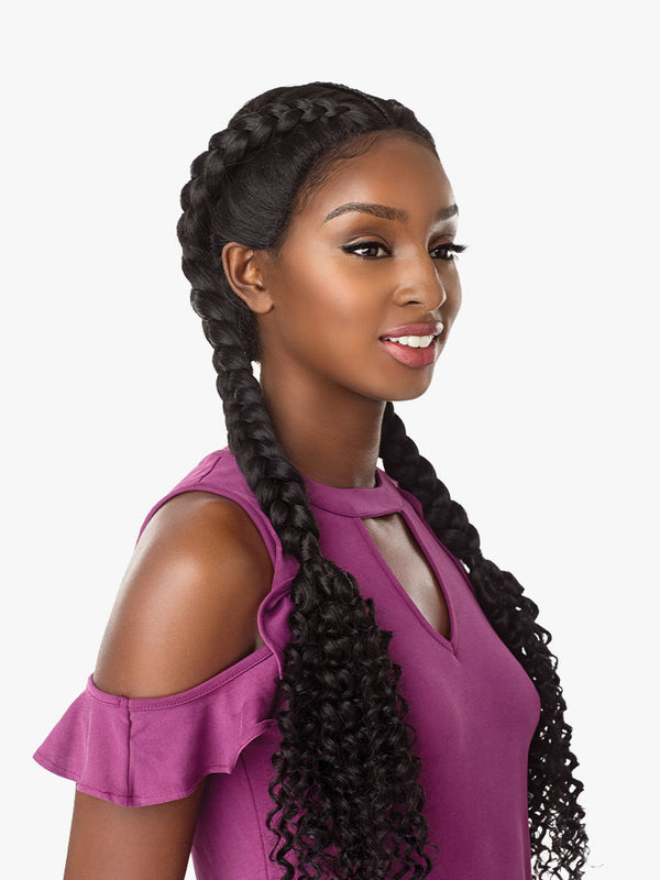 LACE WIG BOHEMIAN DUTCH BRAID