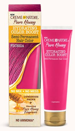 CREME OF NATURE PURE HONEY HYDRATING COLOR BOOST SEMI-PERMANENT -FUCHSIA