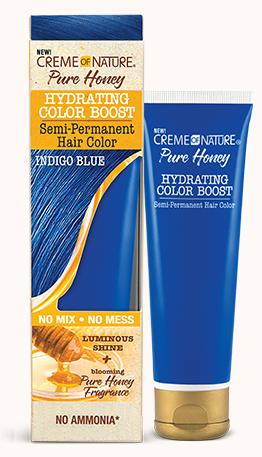 CREME OF NATURE PURE HONEY HYDRATING COLOR BOOST SEMI-PERMANENT - INDIGO BLUE