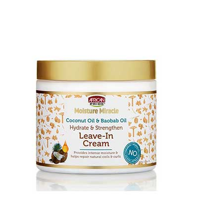AFRICAN PRIDE MOISTURE MIRACLE COCO & BAOBAB LEAVE IN CONDITIONNER (CREME REVITALISANTE)