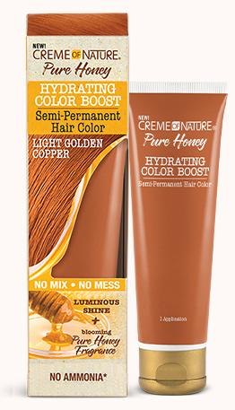 CREME OF NATURE PURE HONEY HYDRATING COLOR BOOST SEMI-PERMANENT - GOLDEN COPPER