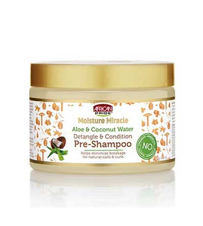 AFRICAN PRIDE MOISTURE MIRACLE ALOE &COCO PRE-SHAMPOO (SOINS PRE-SHAMPOOING)