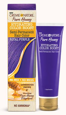 CREME OF NATURE PURE HONEY HYDRATING COLOR BOOST SEMI-PERMANENT -ROYAL PURPLE