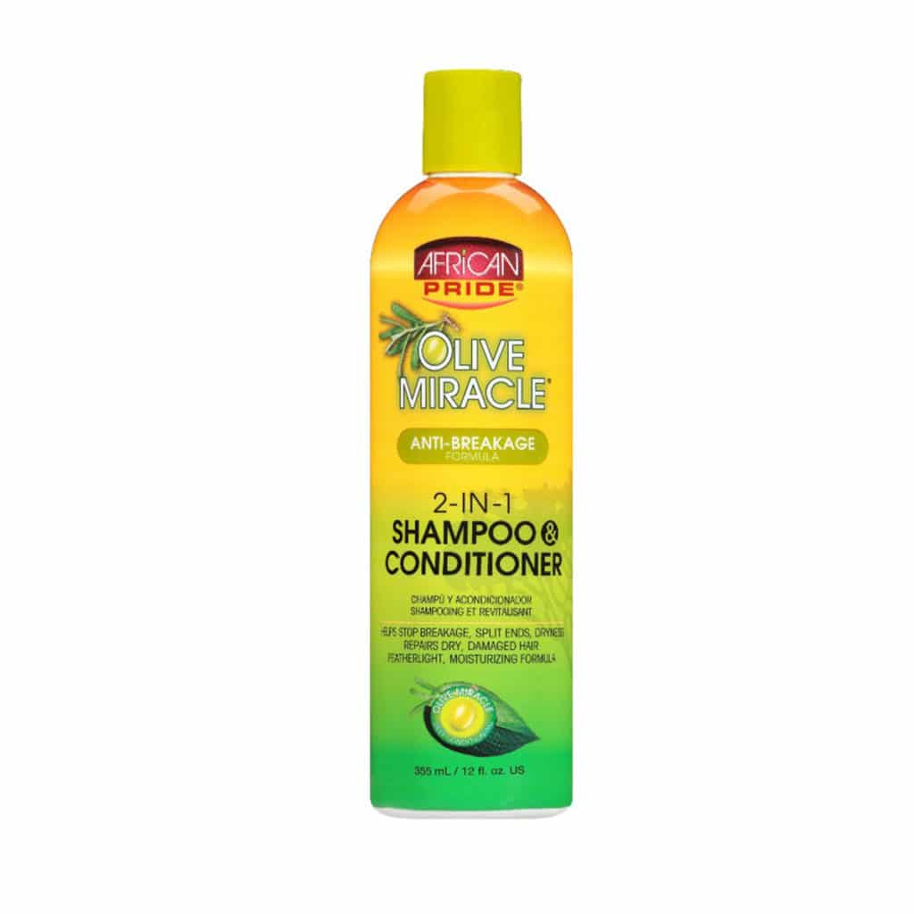 AFRICAN PRIDE OLIVE MIRACLE SHAMPOOING 2 EN 1 355ML