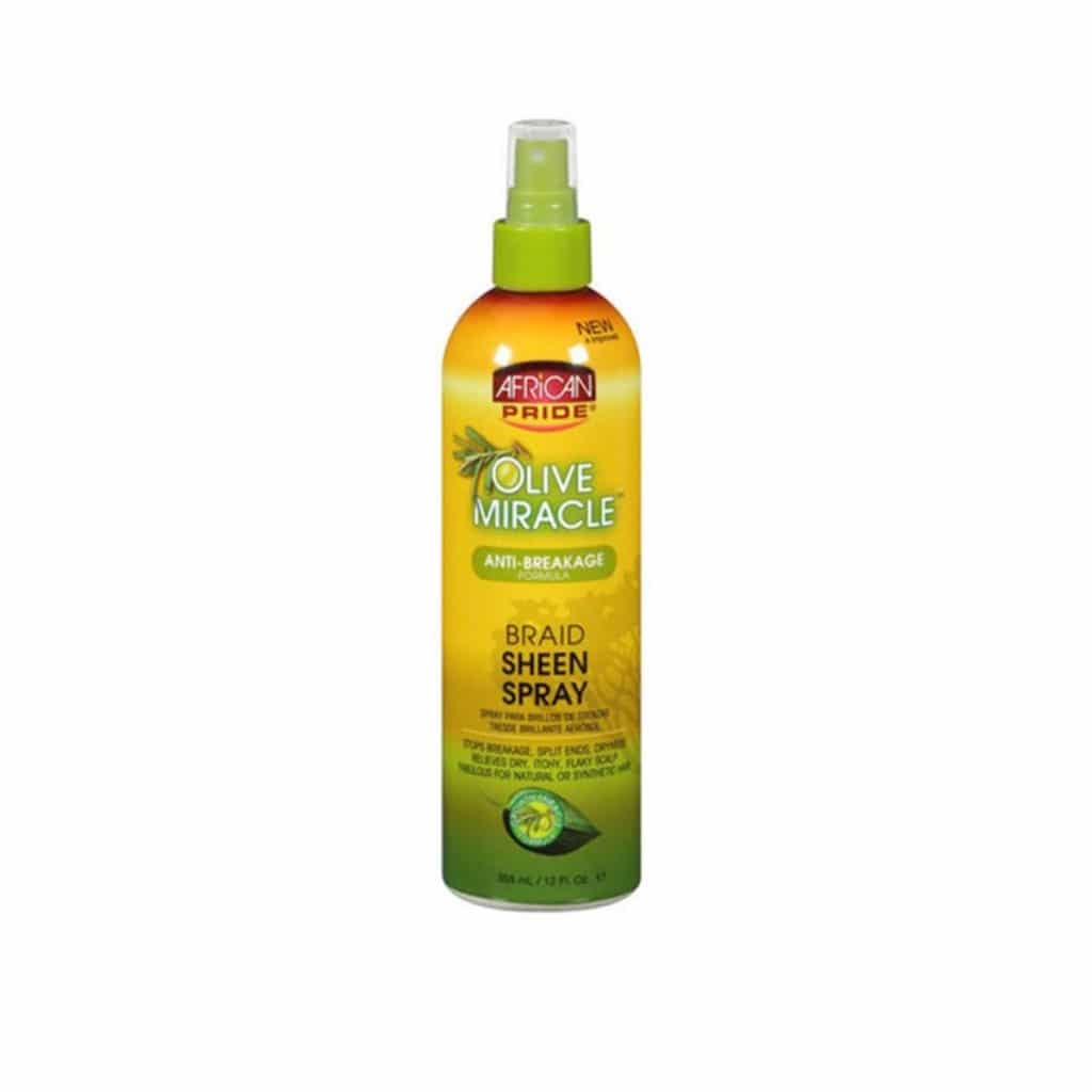 AFRICAN PRIDE OLIVE MIRACLE  SPRAY BRILLANCE 355ML (BRAID SHEEN)