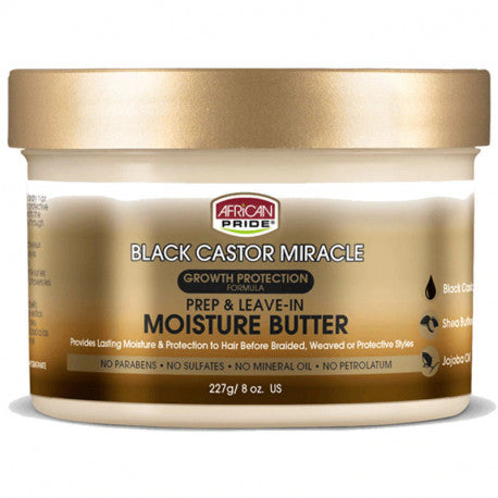 AFRICAN PRIDE BLACK CASTOR MIRACLE REP & LEAVE-IN MOISTURE BUTTER 227G