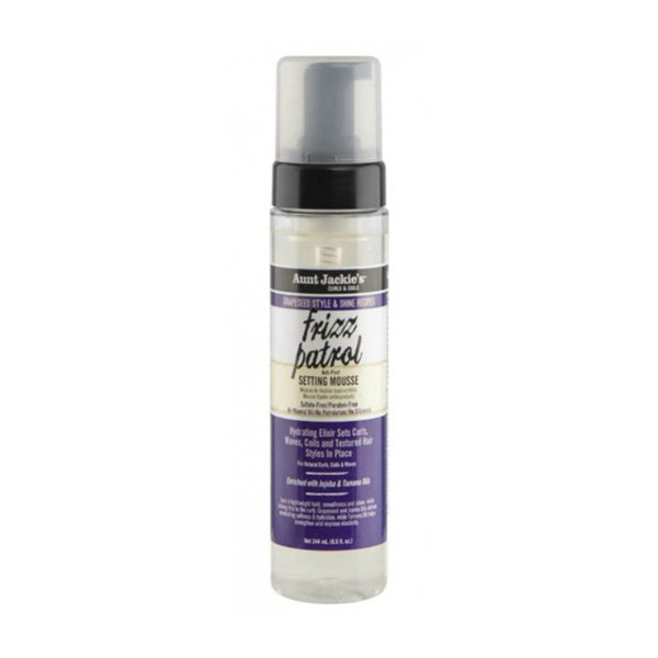 Aunt Jackie's - Mousse fixation boucles Jojoba & Tamanu 244ml (Frizz Patrol)