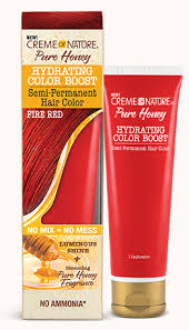 CREME OF NATURE PURE HONEY HYDRATING COLOR BOOST SEMI-PERMANENT - FIRE RED