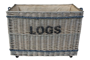 "Jumbo ""LOGS"" Basket with Wheels"
