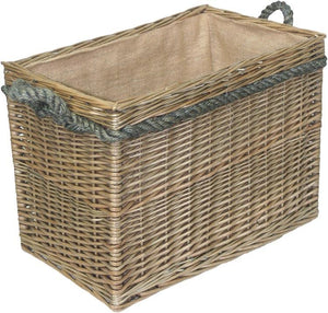 Medium Log Basket with Rope