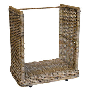 Grey Wash Narrow Basket