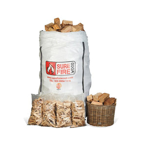 Kiln Dried Firewood/Hardwood Super Jumbo & 4 Kindling Savers (€103.47m3)