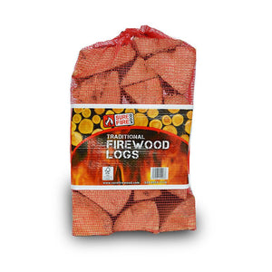 Seasoned Firewood Net Bags (€2.59/bag - 80 Units per Pallet)