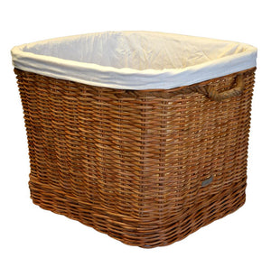 Large lined wheeled basket