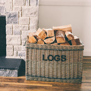 "Jumbo ""LOGS"" Basket with Rope"