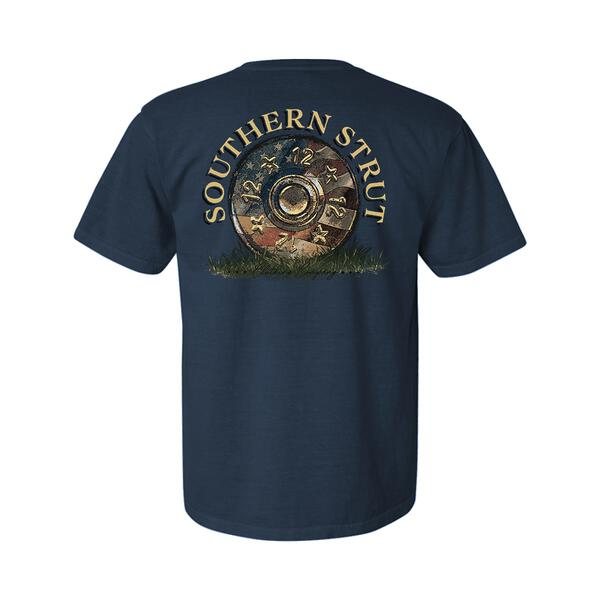 Southern Strut 12 Gauge Flag Navy T Shirt