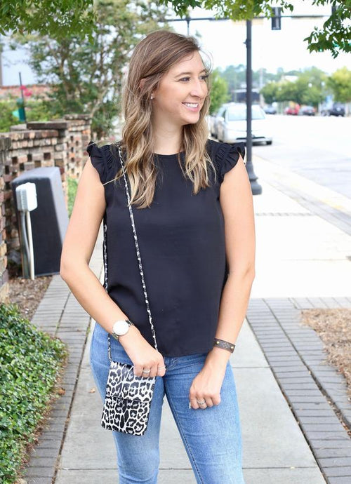 Desiree Crossbody With Touchscreen Gray Leopard