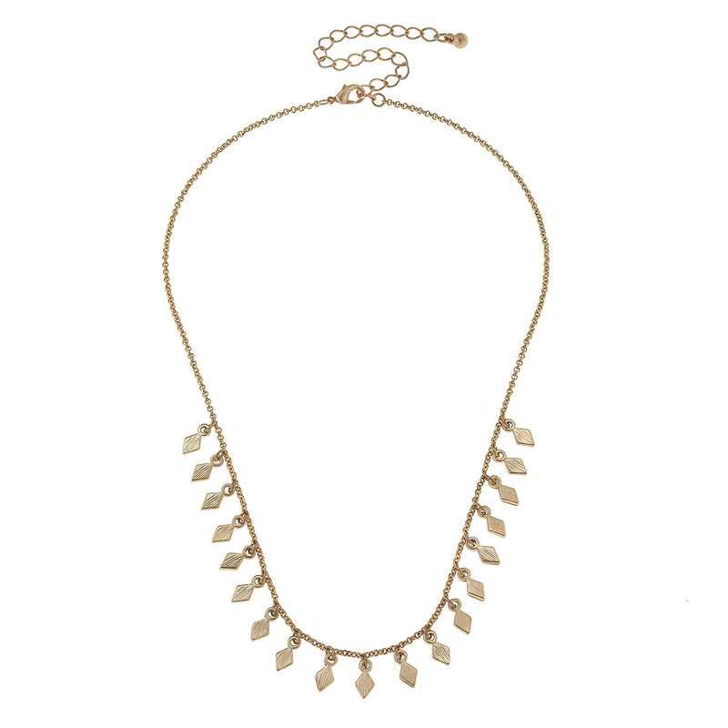 Canvas Jewelry 'Diamond Drip Chain Necklace'- Gold