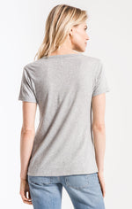 Z Supply 'The Perfect Crew' Tee - Heather Grey