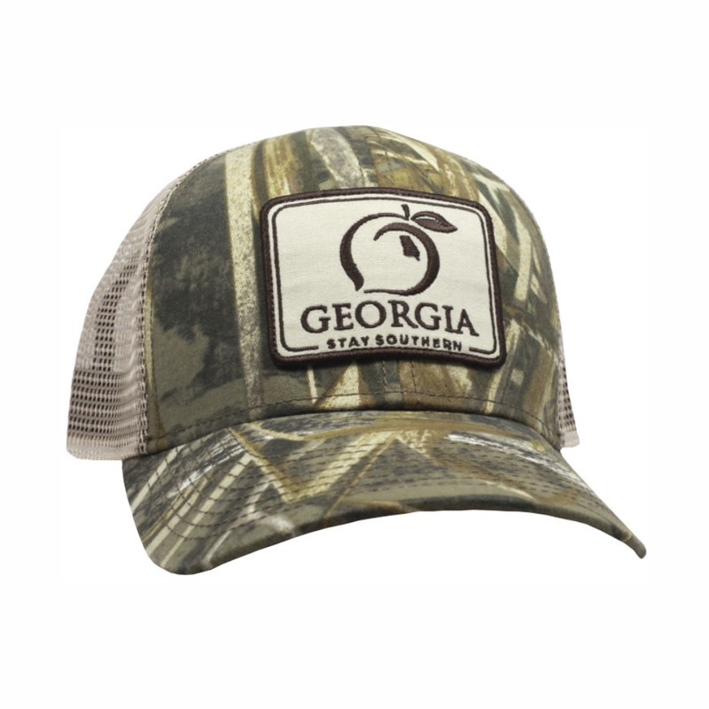 Peach State Pride 'Georgia Patch' Trucker Hat - Camo
