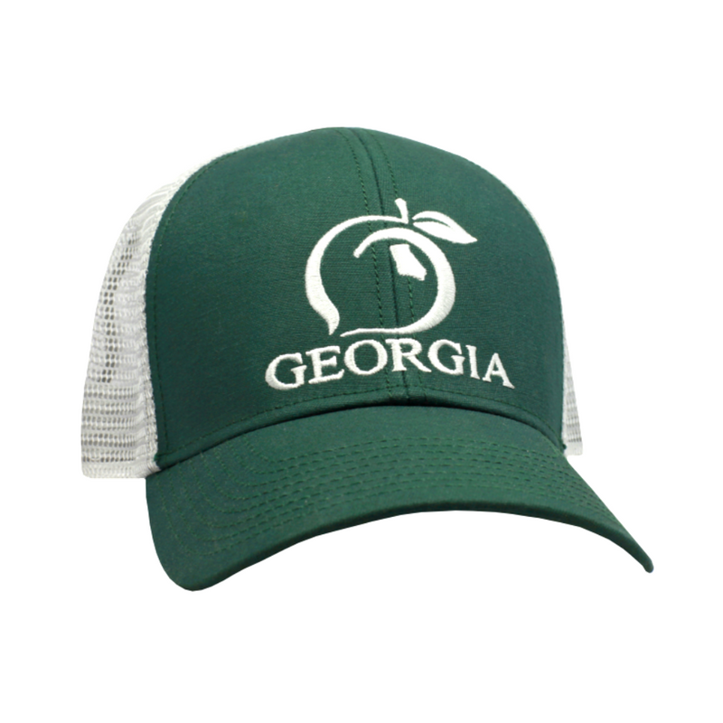 Peach State Pride 'Georgia Mesh Back' Trucker Hat - Dark Green