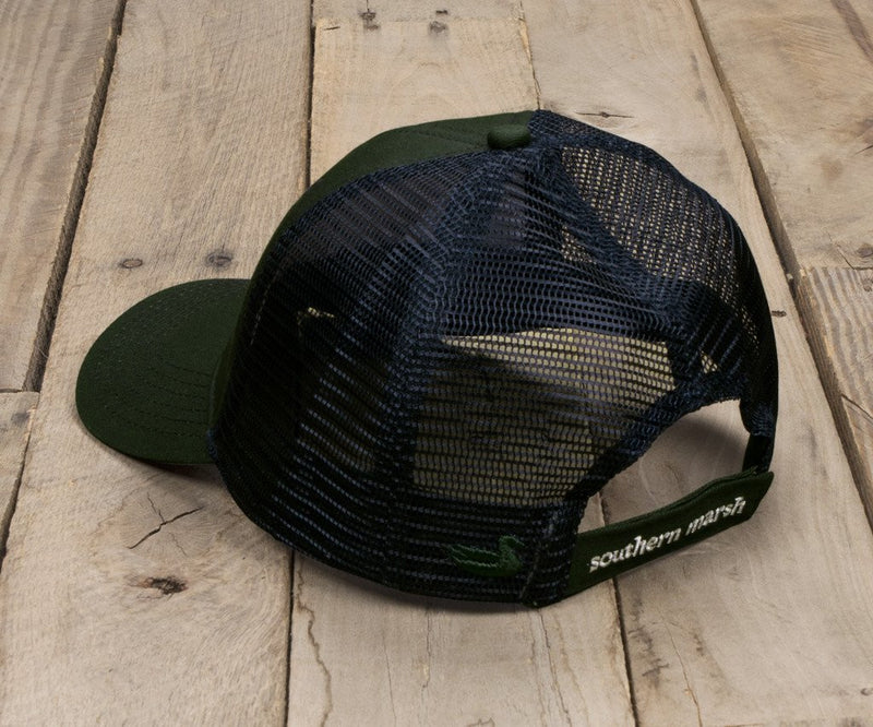 Southern Marsh 'Flying Duck' Trucker Hat- Dark Green
