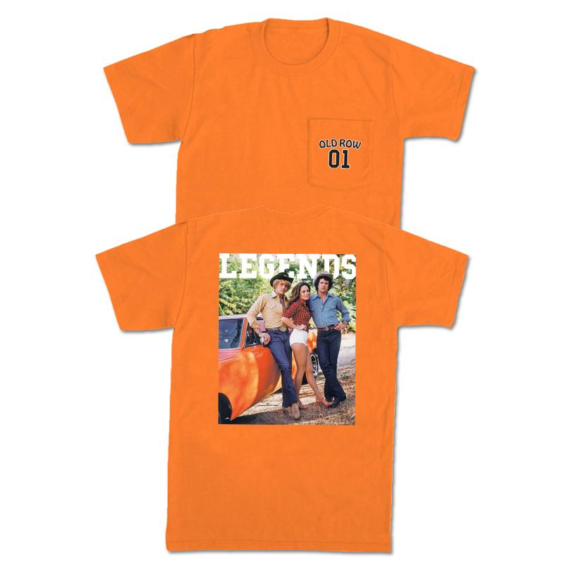 Old Row 'Hazzard County' Pocket Tee - Orange