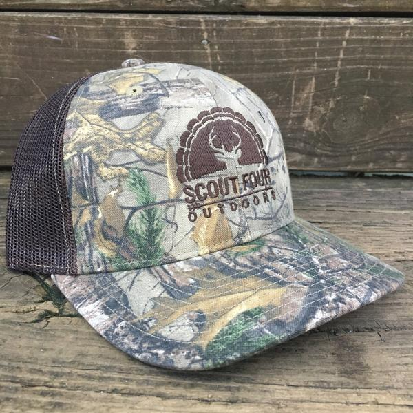 23fd1dc6aff Scout Four Outdoors  Jordan  Trucker Hat - Camo – Purple Door ...