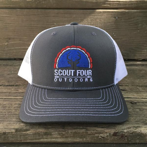 Scout Four Outdoors 'American' Trucker Hat - Charcoal