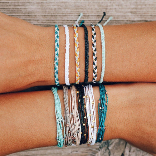 Pura Vida Mini Braided Bracelet - Warm Shoreline