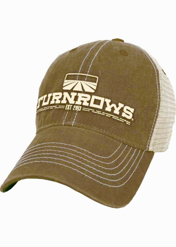 Turnrows 'Logo Classic Mesh Back Trucker' Hat - Khaki