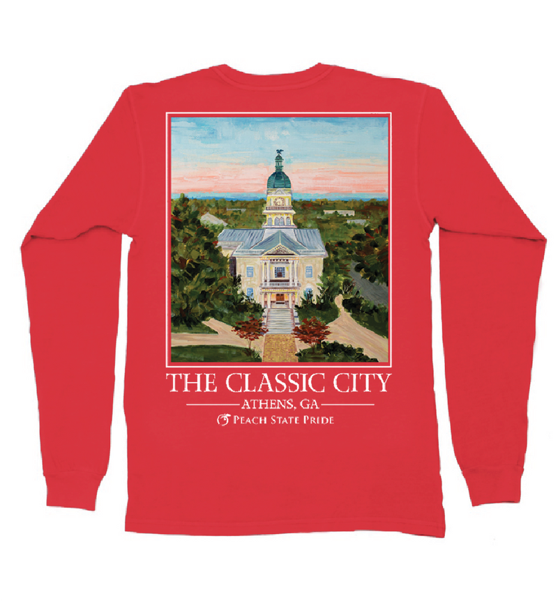 Peach State Pride 'Classic City' Long Sleeve - Red