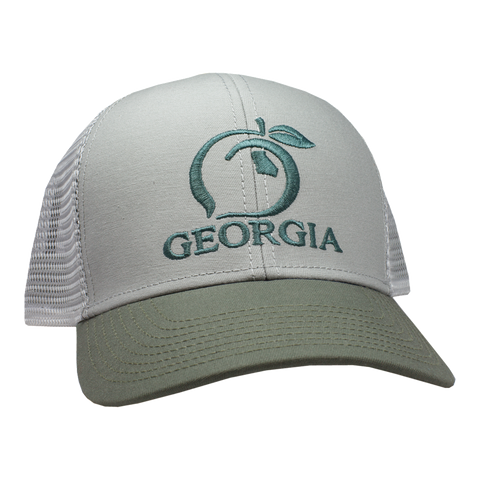 Peach State Pride 'Georgia Mesh Back' Trucker Hat - Navy/Stone