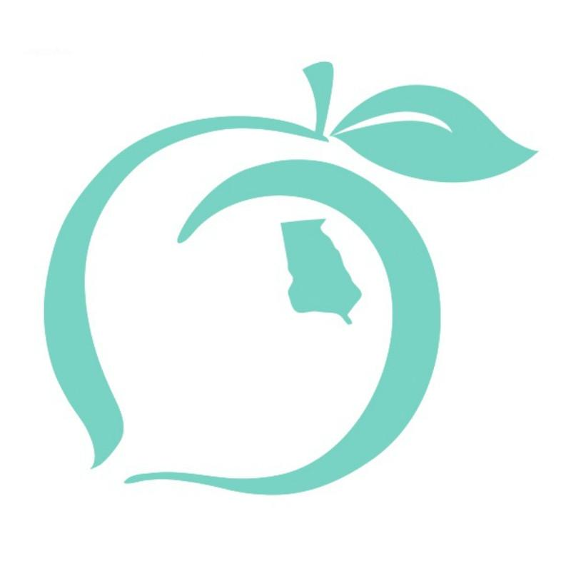 Peach State Pride 'Logo Decal' - Teal
