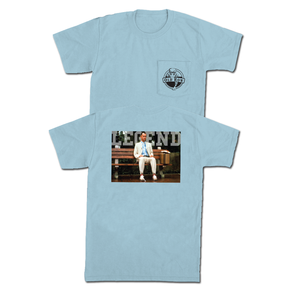 old row forest gump legend t shirt
