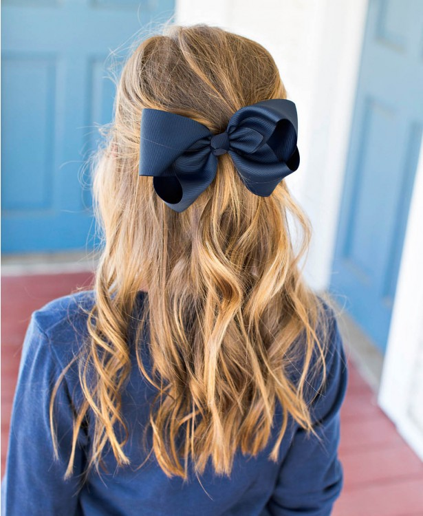 "Ruffle Butts 6"" Bow - Navy"