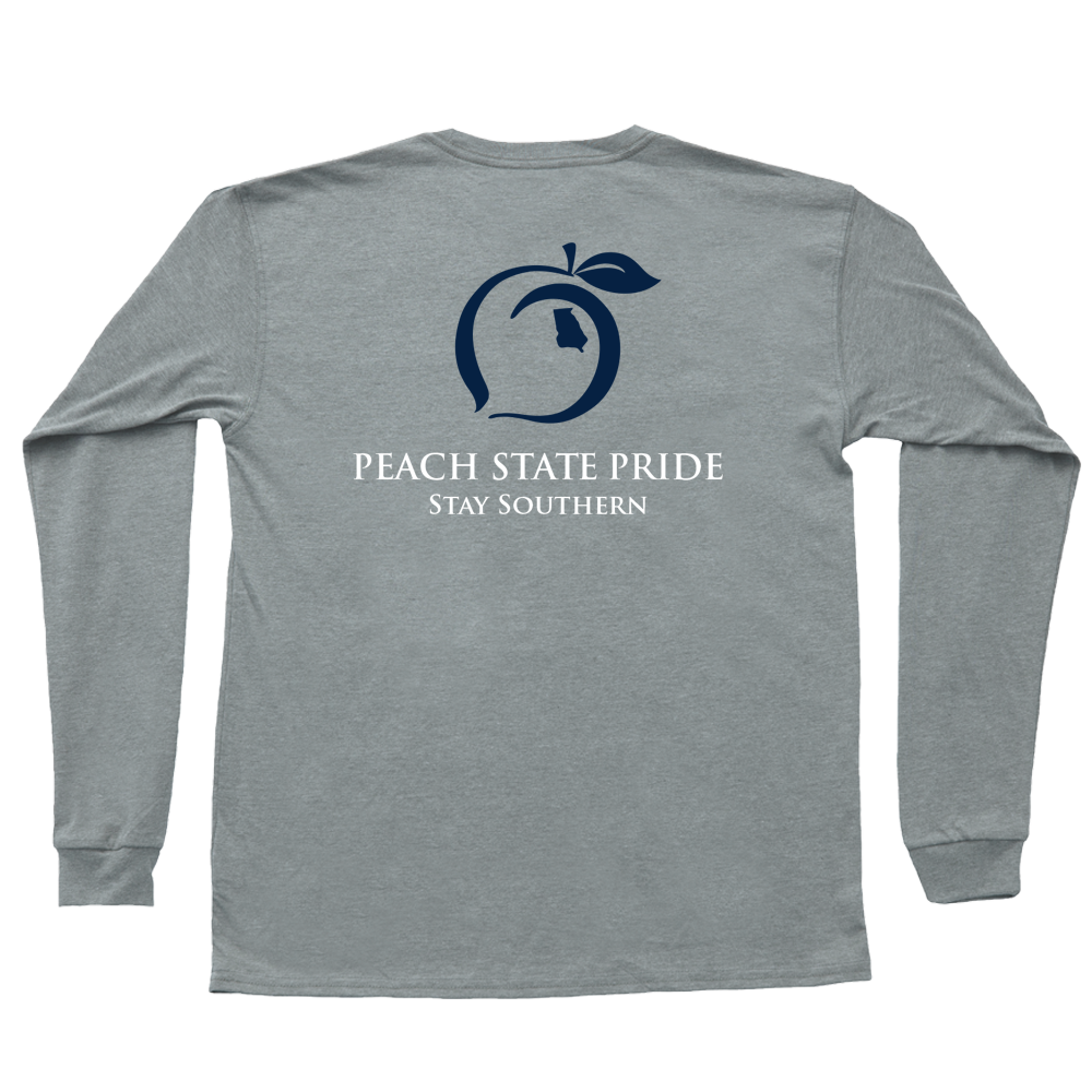 Peach State Pride Youth 'Stay Southern' Long Sleeve - Gray